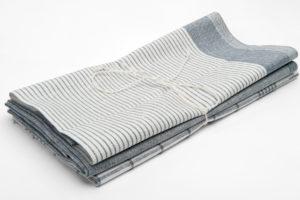 """Pilkas virtuvės rankšluostukų rinkinys iš lino - medvilnės audinio. Gamintojas - AB""""Siūlas"""""""